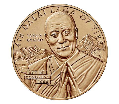 Dalai Lama Bronze Medal 1.5 Inch