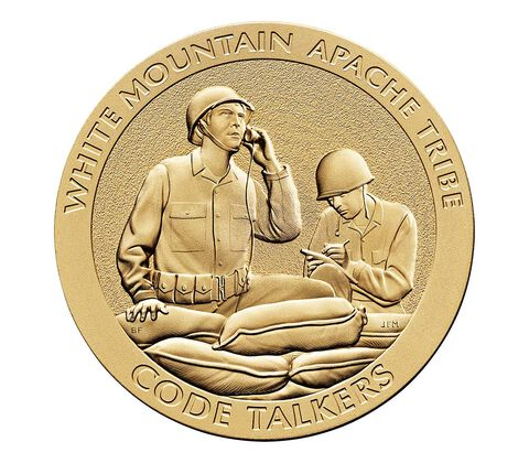 White Mountain Apache Tribe Code Talkers Bronze Medal 3 Inch,  image 1