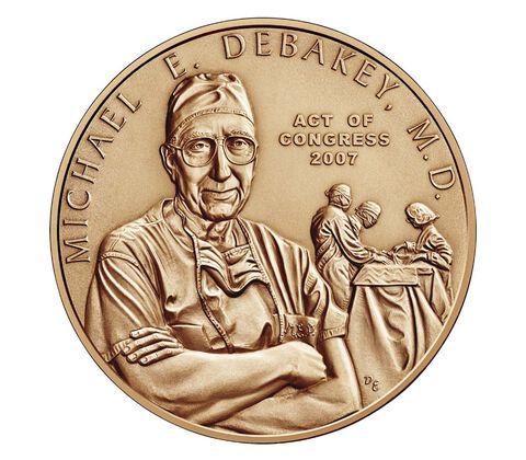 Dr. Michael E. DeBakey, M.D. Bronze Medal 1.5 Inch
