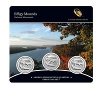 Effigy Mounds National Monument 2017 Quarter, 3-Coin Set