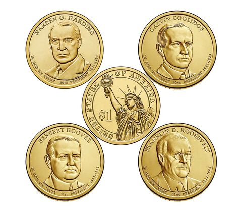Presidential $1 Coin 2014 Uncirculated Set,  image 3