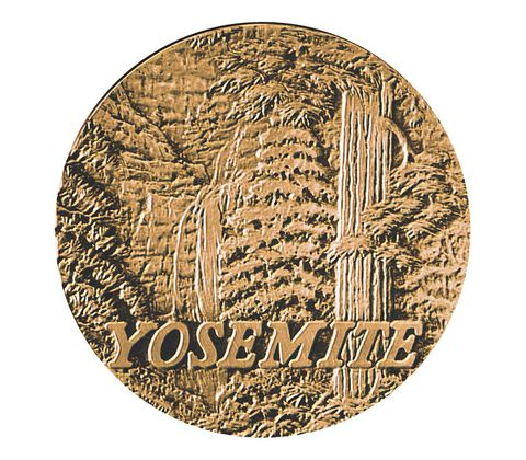 Yosemite National Park Centennial Bronze Medal 3 Inch,  image 1