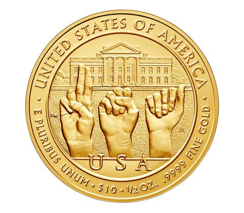 Grace Coolidge 2014 First Spouse Series One-Half Ounce Gold Uncirculated Coin,  image 2
