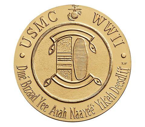 Navajo Code Talkers Bronze Medal 3 Inch,  image 2