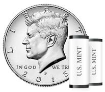 Kennedy 2015 Half Dollar, 2-Roll Set