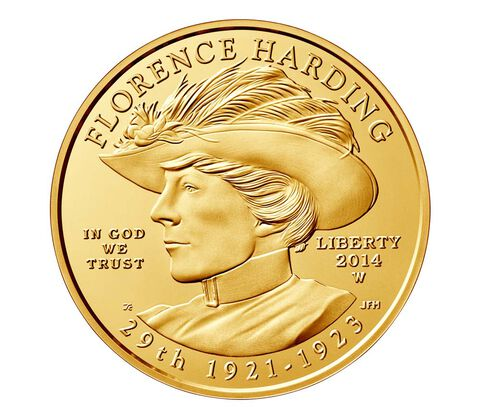 Florence Harding 2014 First Spouse Series One-Half Ounce Gold Uncirculated Coin