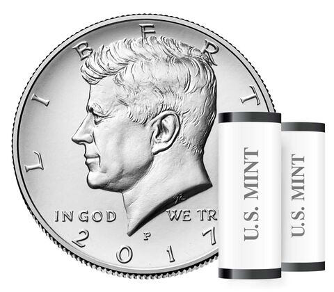 Kennedy 2017 Half Dollar, 2-Roll Set