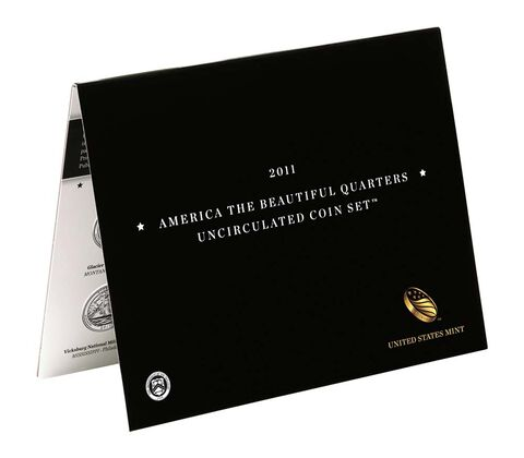 America the Beautiful 2011 Quarters Uncirculated Coin Set,  image 2