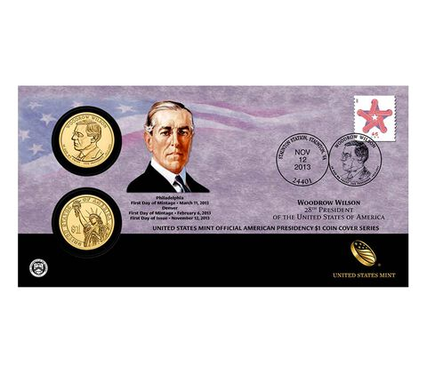 Woodrow Wilson 2013 One Dollar Coin Cover
