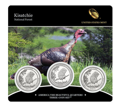 Kisatchie National Forest 2015 Quarter, 3-Coin Set