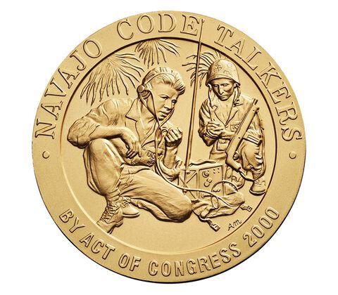Navajo Code Talkers Bronze Medal 3 Inch