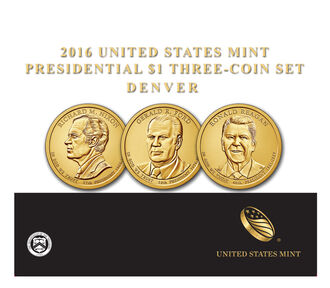 Presidential 2016 One Dollar Three-Coin Set