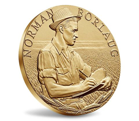 Dr. Norman Borlaug Bronze Medal 3 Inch,  image 3