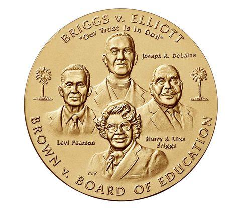 Brown vs. Board of Education Bronze Medal 3 Inch