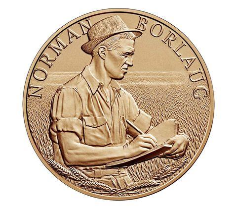 Dr. Norman Borlaug Bronze Medal 1.5 Inch