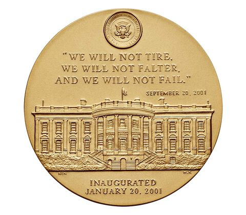 George W. Bush (First Term) Bronze Medal 3 Inch,  image 2