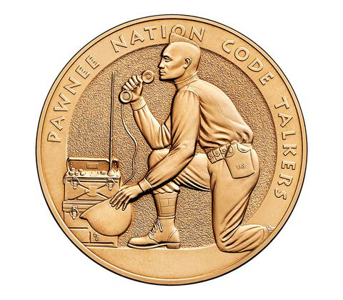 Pawnee Nation Tribe Code Talkers Bronze Medal 1.5 Inch