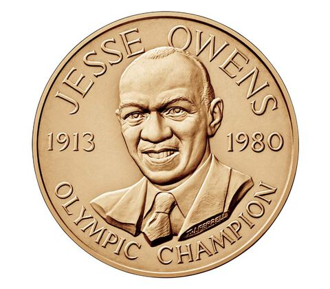 Jesse Owens Bronze Medal 1.5 Inch