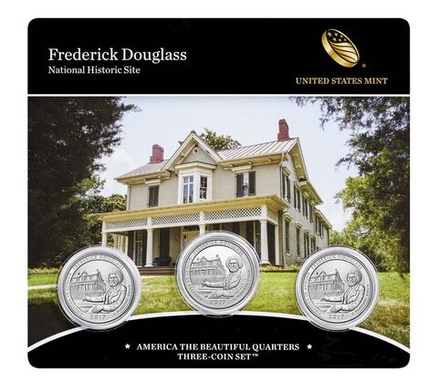Frederick Douglass National Historic Site 2017 Quarter, 3-Coin Set