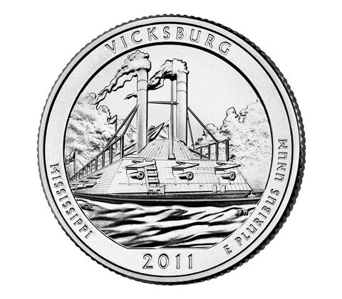 Vicksburg National Military Park 2011 Quarter, 3-Coin Set,  image 3