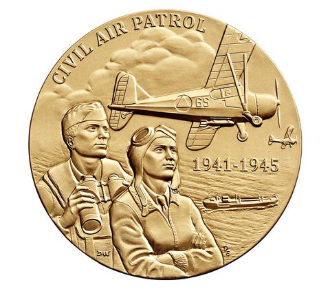 Civil Air Patrol Bronze Medal 3 Inch