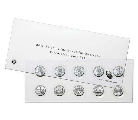 America the Beautiful Quarters 2011 Circulating Coin Set