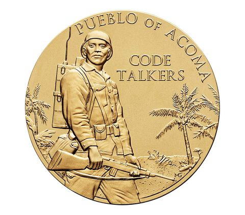 Pueblo of Acoma Tribe Code Talkers Bronze Medal 3 Inch