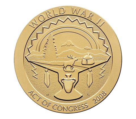 White Mountain Apache Tribe Code Talkers Bronze Medal 1.5 Inch,  image 2