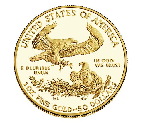 American Eagle 2017 One Ounce Gold Proof Coin,  image 2