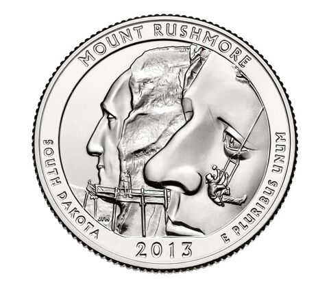 Mount Rushmore National Memorial 2013 Quarter, 3-Coin Set,  image 4