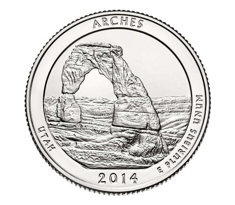 Arches National Park 2014 Quarter, 3-Coin Set,  image 4