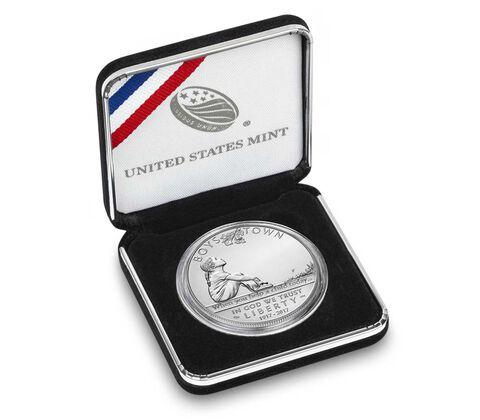 Boys Town Centennial 2017 Uncirculated Silver Dollar,  image 4