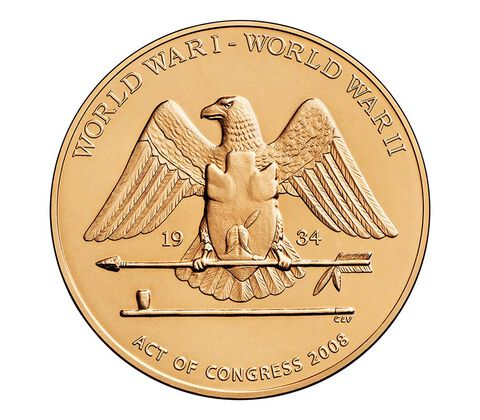 Santee Sioux Code Talkers Bronze Medal 1.5 Inch,  image 2