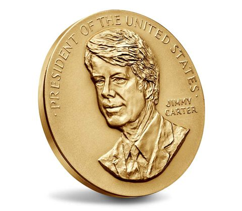 Jimmy Carter Bronze Medal 3 Inch,  image 3