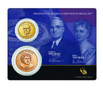 Harry S. Truman 2015 Presidential One Dollar Coin & First Spouse Medal Set