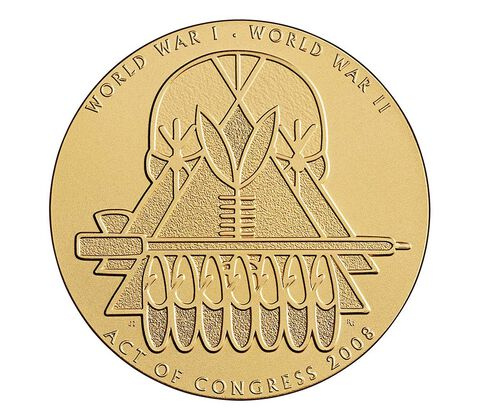 Ponca Tribe Code Talkers Bronze Medal 1.5 Inch,  image 2