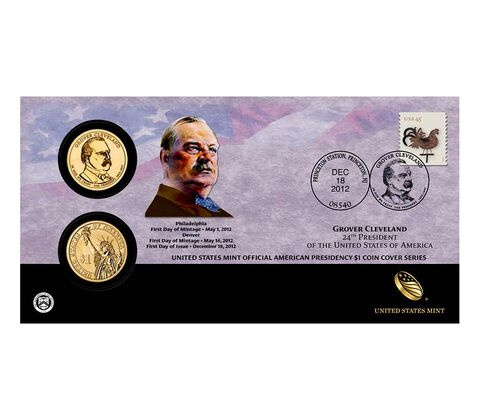 Grover Cleveland (Second Term) 2012 One Dollar Coin Cover