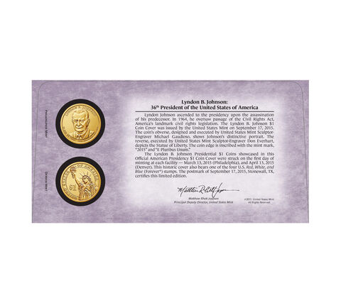 Official American Presidency $1 Coin Cover Enrollment,  image 2