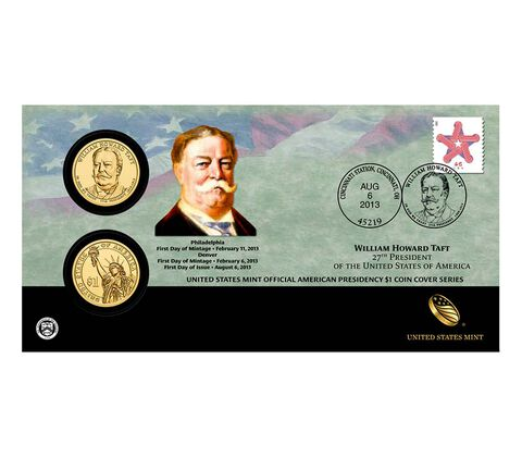 William Howard Taft 2013 One Dollar Coin Cover