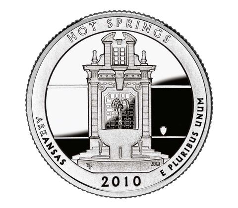 Hot Springs National Park 2010 Quarter, 3-Coin Set,  image 2