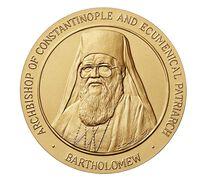 Ecumenical Patriarch Bartholomew Bronze Medal 3 Inch