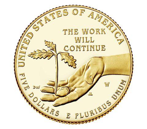 Boys Town Centennial 2017 Proof $5 Gold Coin,  image 2