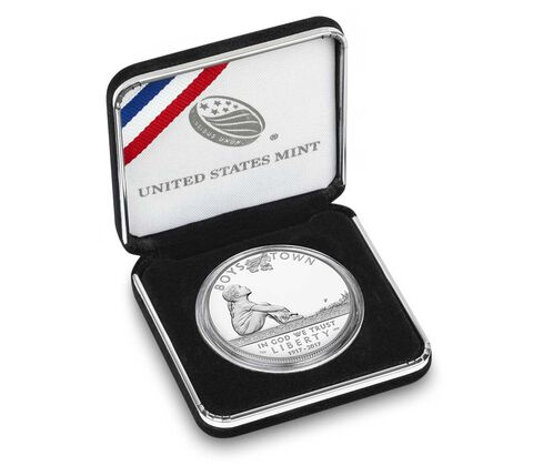 Boys Town Centennial 2017 Proof Silver Dollar,  image 4