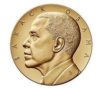 Barack Obama (Second Term) Bronze Medal 3 Inch