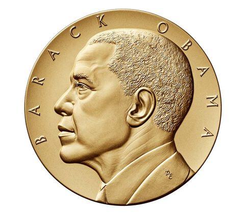 Barack Obama (Second Term) Bronze Medal 3 Inch