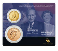 Dwight D. Eisenhower 2015 Presidential One Dollar Coin & First Spouse Medal Set