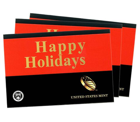 Happy Holidays Gift Sleeves, One-Lens Three-Pack