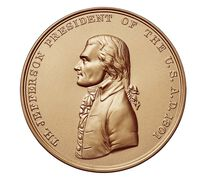 Thomas Jefferson Bronze Medal 1 5/16 Inch