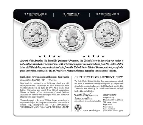 America the Beautiful Quarters 3-Coin Set Enrollment,  image 2