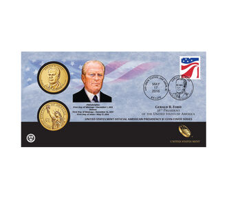 Gerald Ford 2016 One Dollar Coin Cover